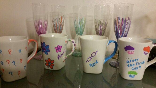 My perfectly imperfect mugs and glasses.