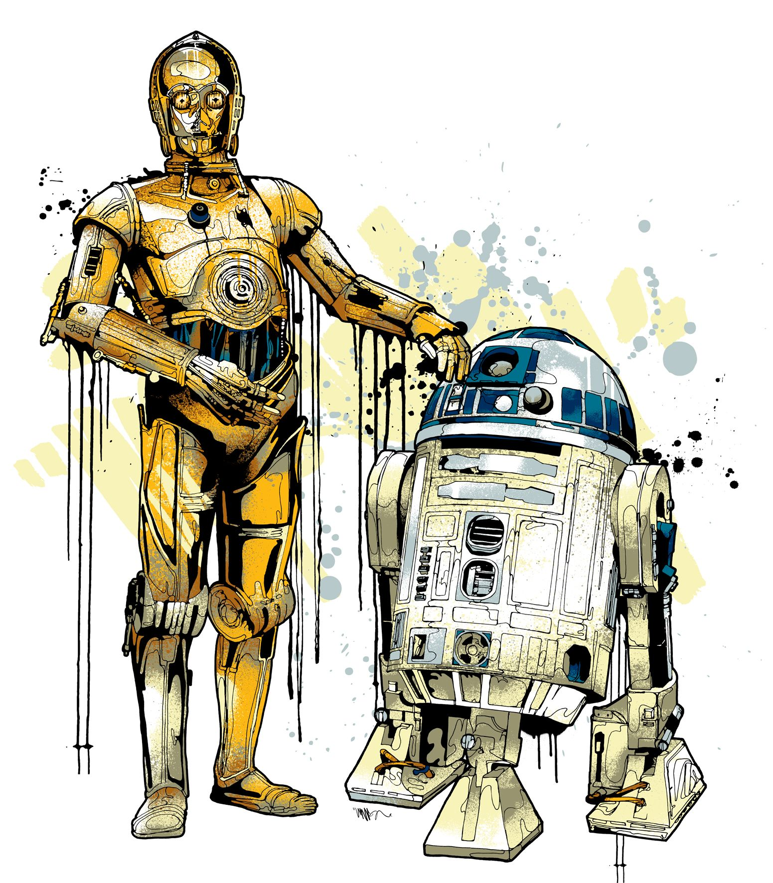 R2d2 And C3po Drawing C3PO R2D2 | Star Wars ...
