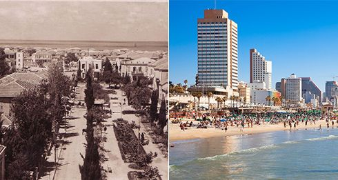 Tel Aviv, then and now....