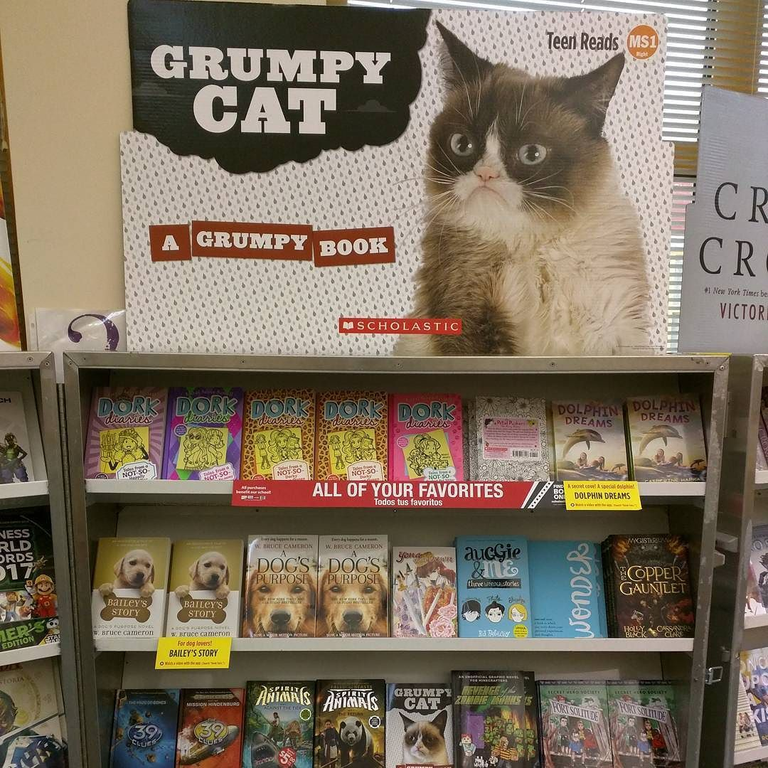 Don't be grumpy! Pick up a new book at the MHS Book Fair this week! #bookfair #southamboypride #library