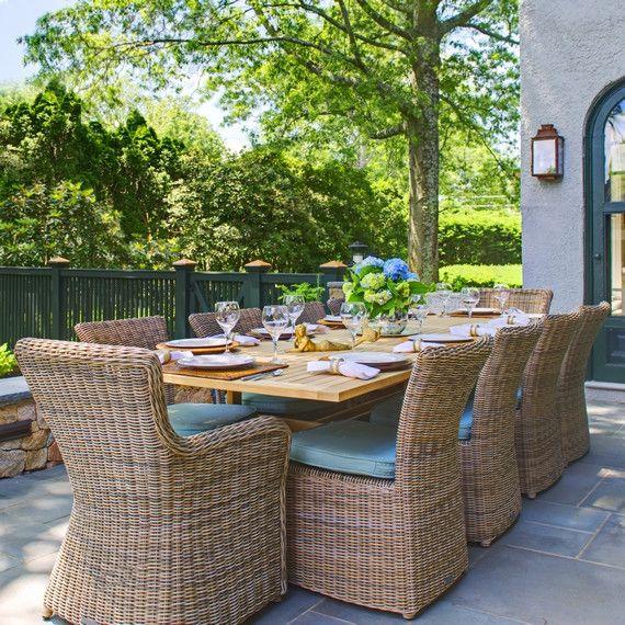 Kingsley Bate: Elegant Outdoor Furniture. Sag Harbor Dining Group In  Driftwood