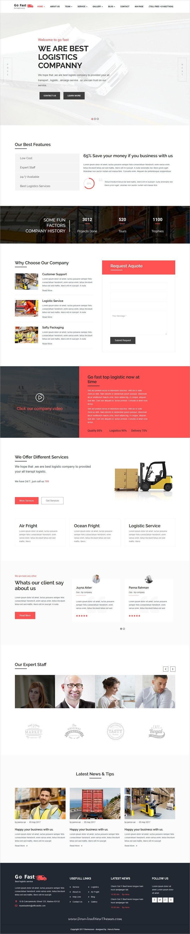 Go Fast-Transport & Logistics HTML Template