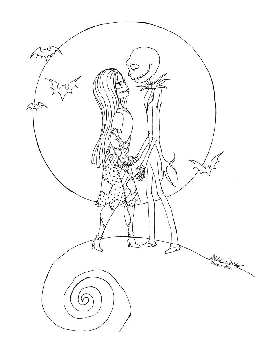 Jack n Sally by JadeDragonne deviantart com on deviantART Nightmare before christmas drawings