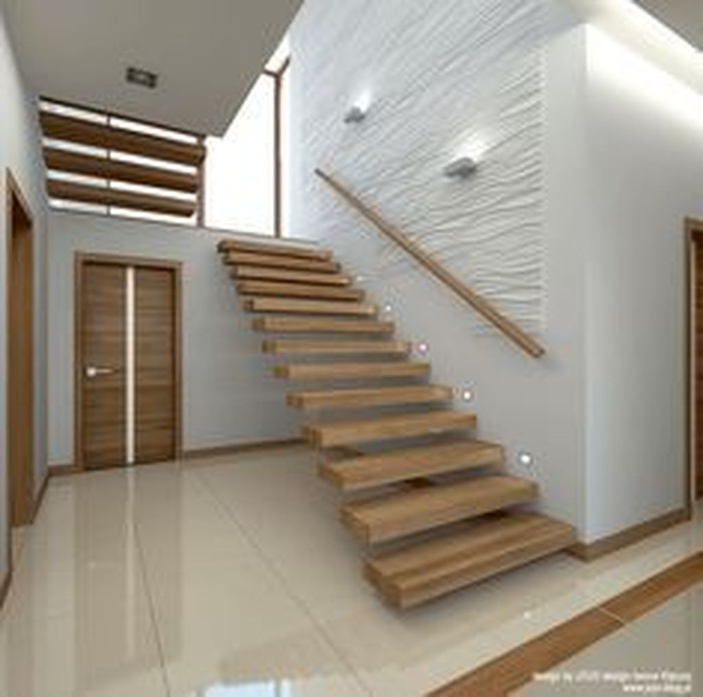 36 Stunning Wooden Stairs Design Ideas