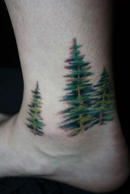 1eac35ddec665 Dear Bob Ross   ink   Foot tattoos, Cute tattoos, Evergreen tattoo