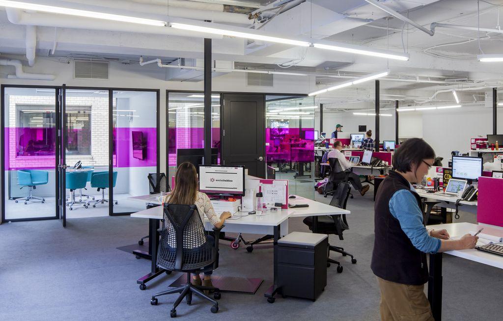 Social Tables Washington DC Office design, Workplace