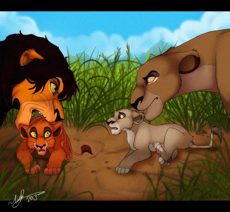 Scar And Zira As Cubs Lion King Fan Art Disney Villians Lion King