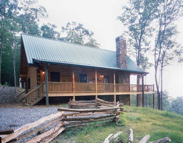 A Georgia Log Cabin with Big Views and a Small Footprint ...