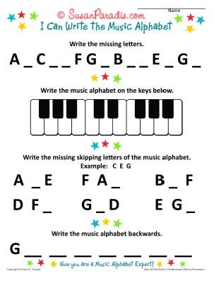 I Can Write The Music Alphabet Worksheet Susan Paradis Piano Teaching Resources Piano Teaching Resources Piano Teaching Piano Teacher Resources Piano worksheets for beginners