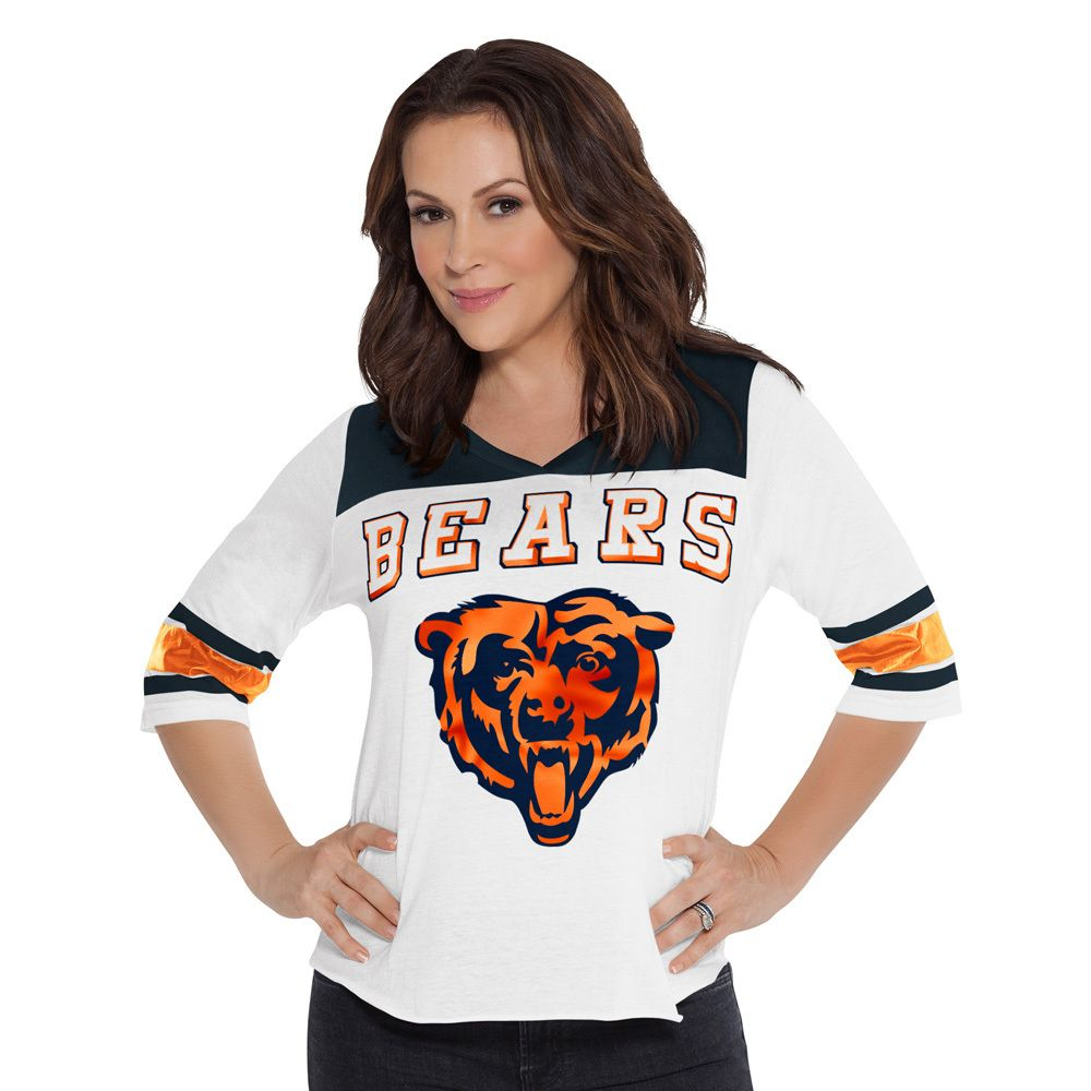 aa469677 Chicago Bears Women's 1/2-Sleeve T-Shirt Touch by Alyssa Milano ...