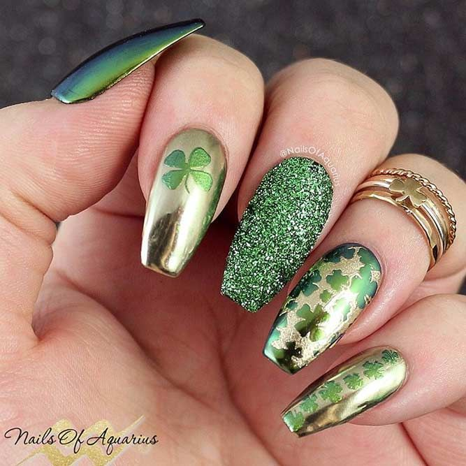 35+ Lucky Nails Designs For St. Patrick\'s Day