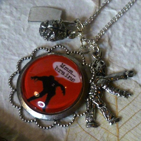 Zombie Necklace  Zombies Necklace Zombie by PuttingontheCharms, $25.00