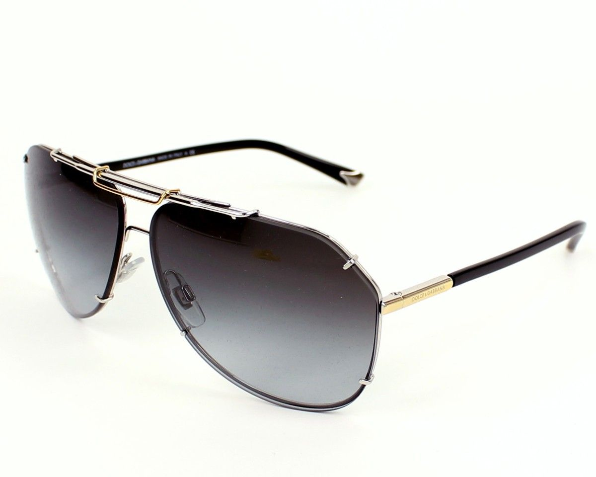b98444bb585e Dolce & Gabbana Mens sunglasses. Reference DG2102 05/8G - 64, frame in  Metal colour Silver - Gold with Grey Gradient lenses and UV protection: 3