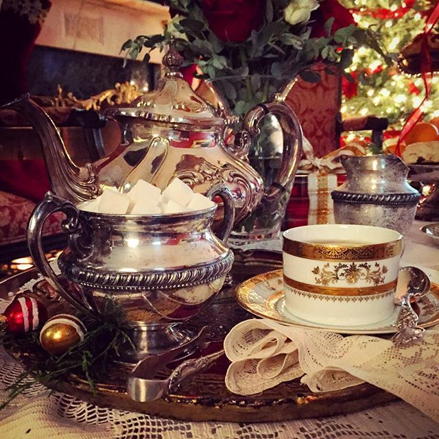 It's #Christmas in July on set today! Our editorial coordinator captured a pretty behind-the-scenes detail from the holiday #tea we're producing for our November/December issue. #bts