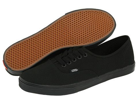 vans authentic lo pro all black slim sole