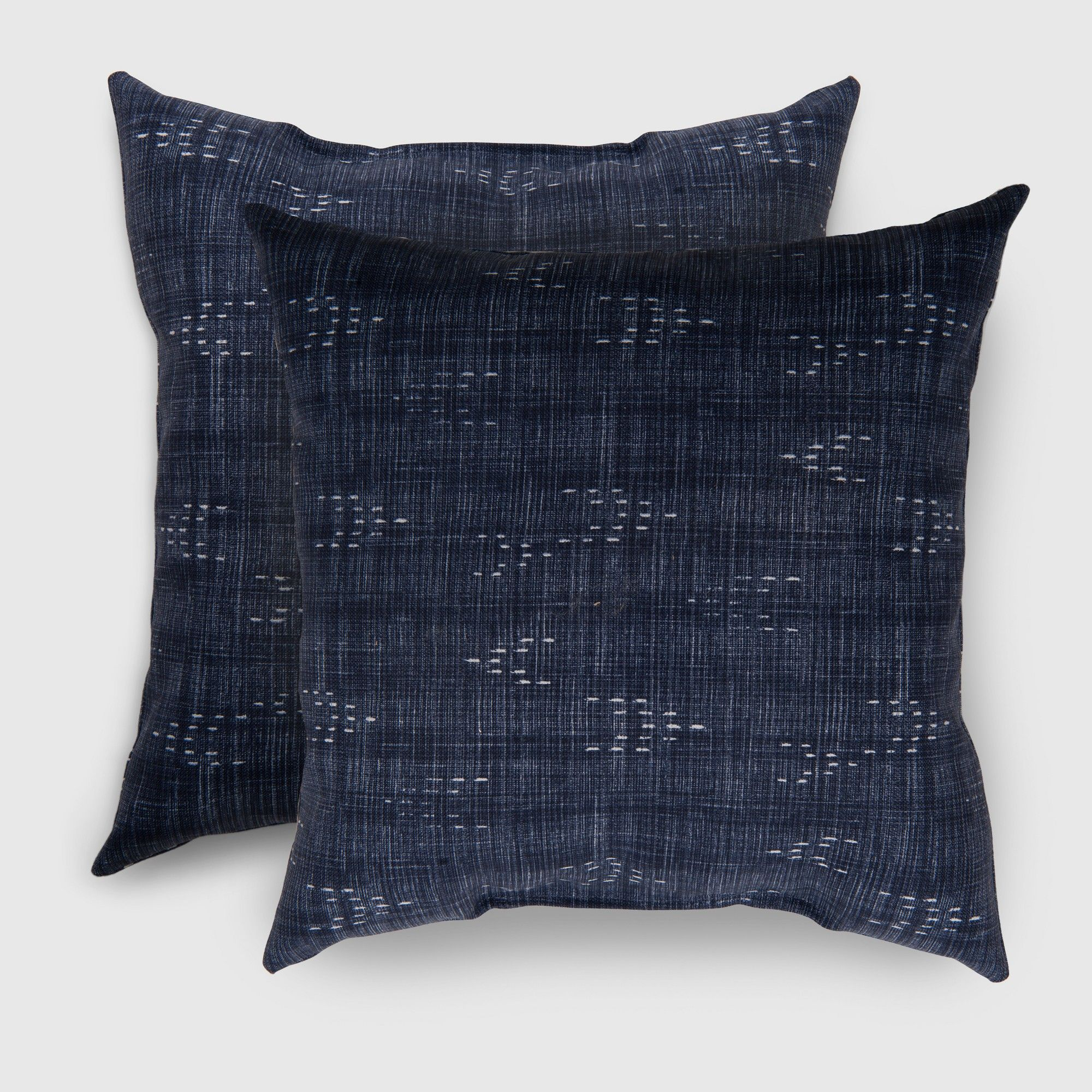 2pk Square Staccato Outdoor Pillows Navy Threshold