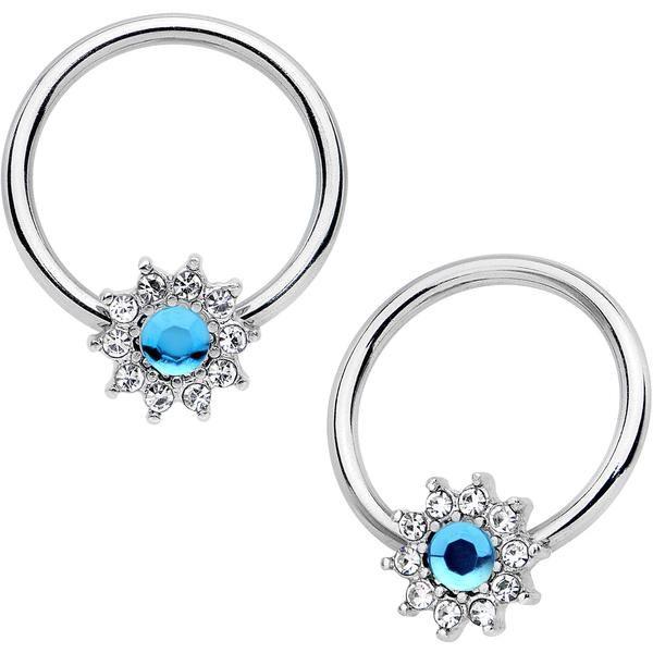 Multi CZ Gems Eternity Dangle Belly Navel Ring Body Piercing Jewelry