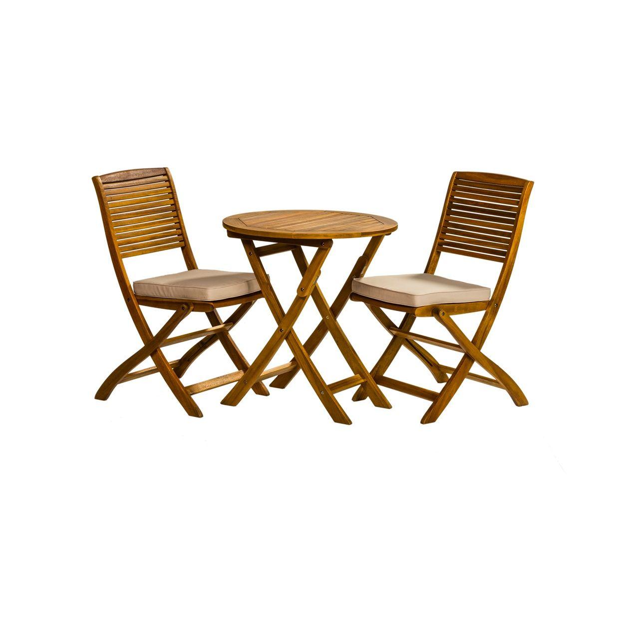 Debenhams Acacia wood \'Panama\' garden bistro set | Debenhams ...