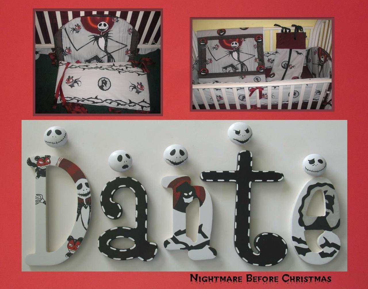 Nightmare Before Christmas Nursery Wall Decor Letters NBC Jack ...