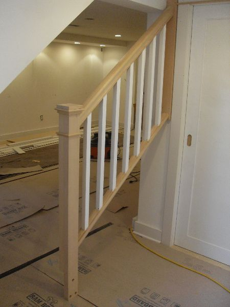 02 Removable Basement Handrail Staircase Makeover Basement | Detachable Banister And Stair Hand Railing | Stair Case | Half Wall | Modern | Traditional | Mezzanine