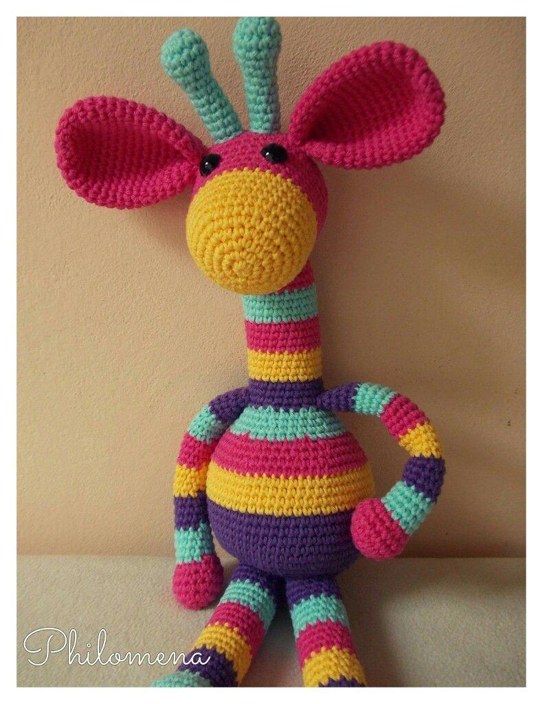 Jirafa tejida al crochet. Largo: 55 cm.... - Muñecos en crochet ...   1024x790