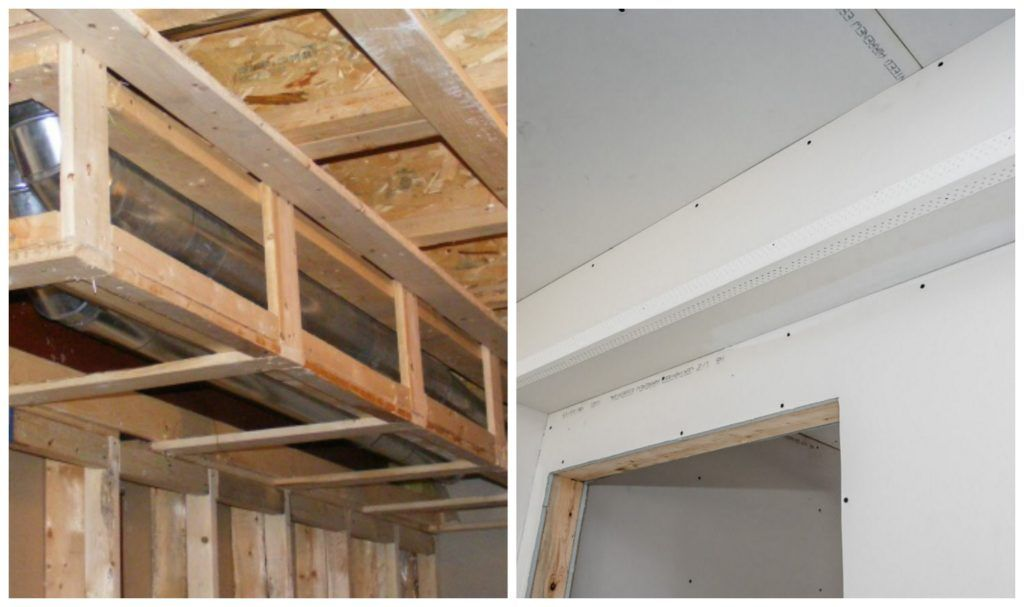 How To Frame Around Ductwork In 5 Easy Steps Framing A Basement Ceiling Duct Work