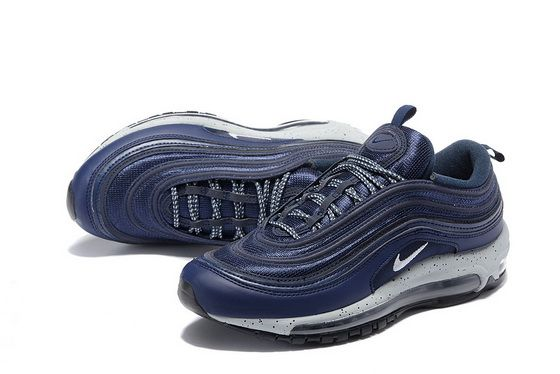 0fd0ca62b86 Nike Air Max 97 VIVId Blue Dark Royal Navy Blue 554716 404 2018 Authentic  Shoe