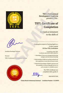 Get your free tefl certificate with tefl pdi sign up for Tefl certificate template