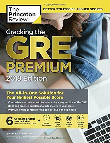 cracking the gre premium edition with 6 practice tests 2018 pdf httpjaebookscom201710cracking gre premium edition 6 practice tests 2018 pdf