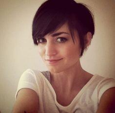 Cute short haircut with bangs