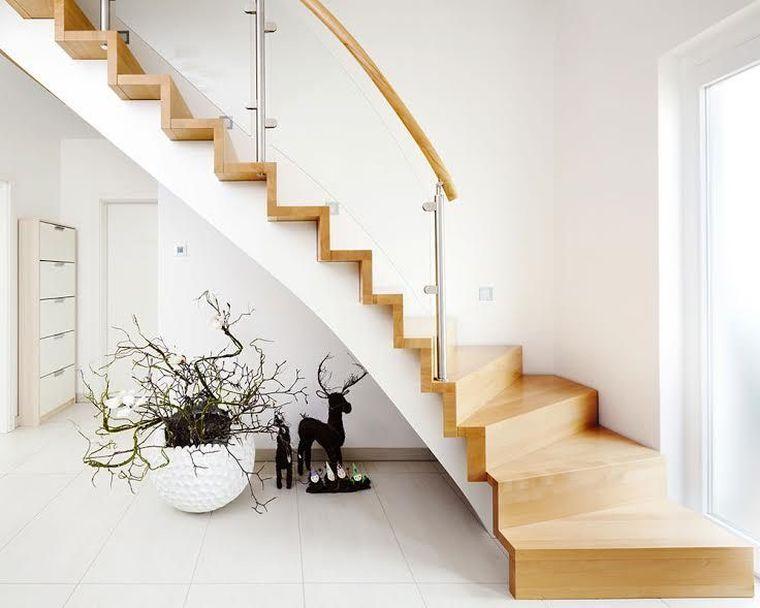 Escalier moderne intérieur  34 idées de déco - idee deco maison moderne