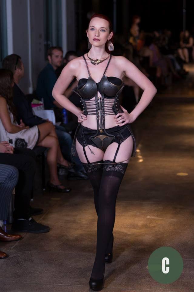 Jessica Tigra - Denver Fashion Week - Ira Sherman Chastity belt Couture 2014