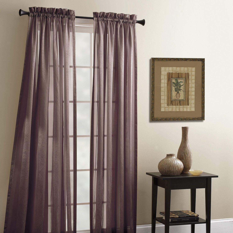 Croscill Tanzania Polyester Rod Pocket Sheer Curtain Panel
