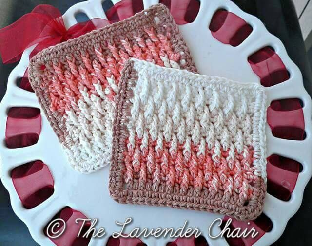 Textured Dishcloth Pattern | Dishcloths to knit and crochet ...
