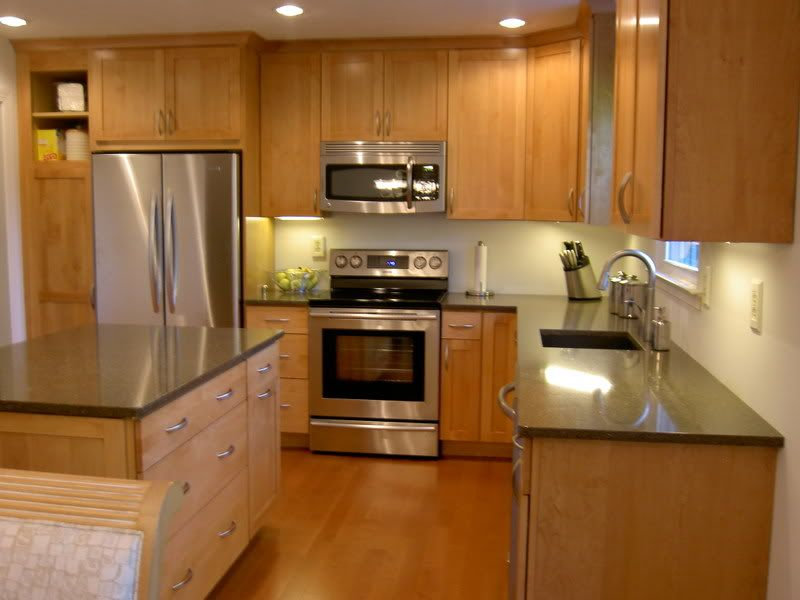 Natural maple cabinets floors with natural maple Kitchen wall colors with maple cabinets
