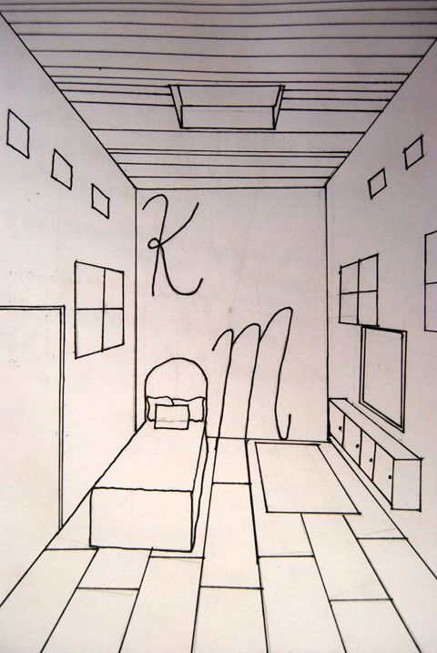 One Perspective Drawing Room: 2nd Point Of View Room In Drawing