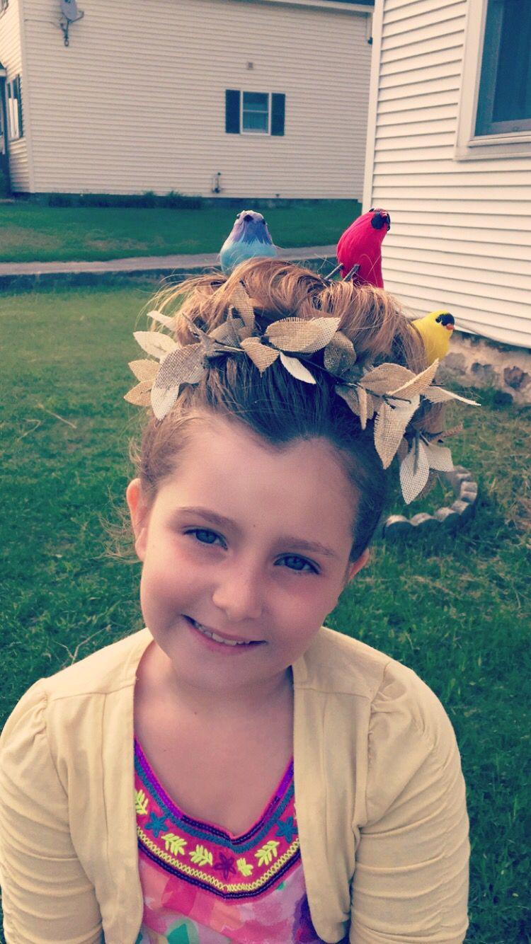 birds nest for crazy hair day at school. | hair ideas