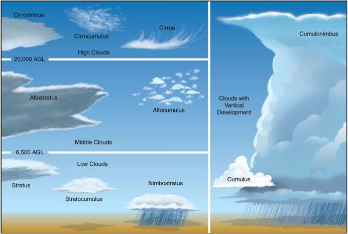 Cloud Identification Diagram Kinds Of Clouds Cloud Type Cloud Diagram