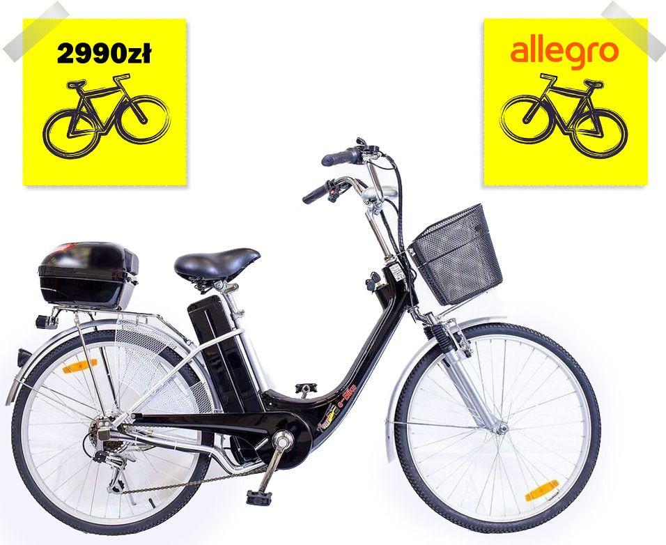 Rower Elektryczny 26 250w 36v E Bike Czarny 7698961613 Oficjalne Archiwum Allegro Electric Bike Bicycles New Electric Bike Electric Bike