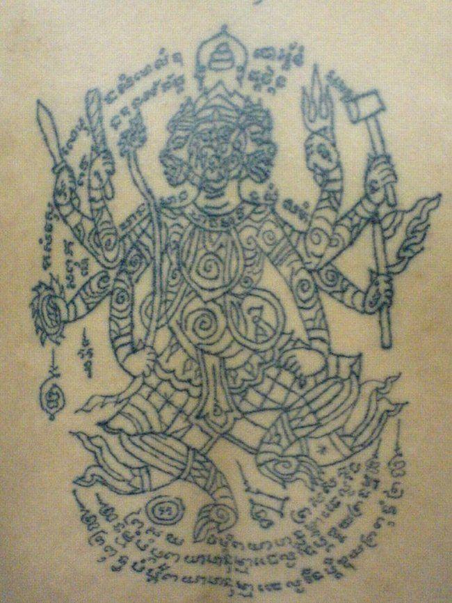 Cambodian Hanuman Tattoo Khmer tat. | Vi | Pint...