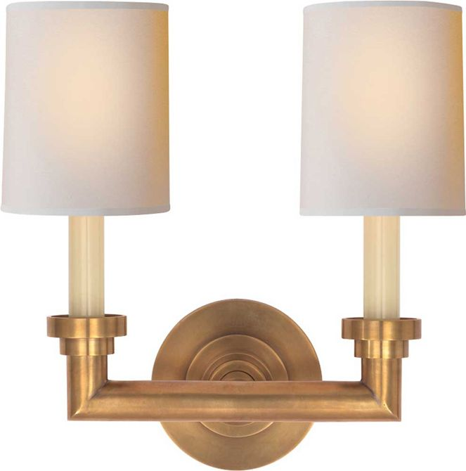 WILTON DOUBLE SCONCE Possible For Stairway In Antique Nickel   Circa  Lighting