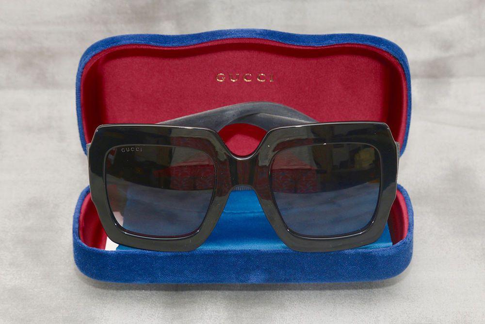 e668c61d09e4 Gucci GG0102S 001 Black Plastic Square Sunglasses Grey Gradient Lens 54MM   fashion  clothing  shoes  accessories  womensaccessories ...
