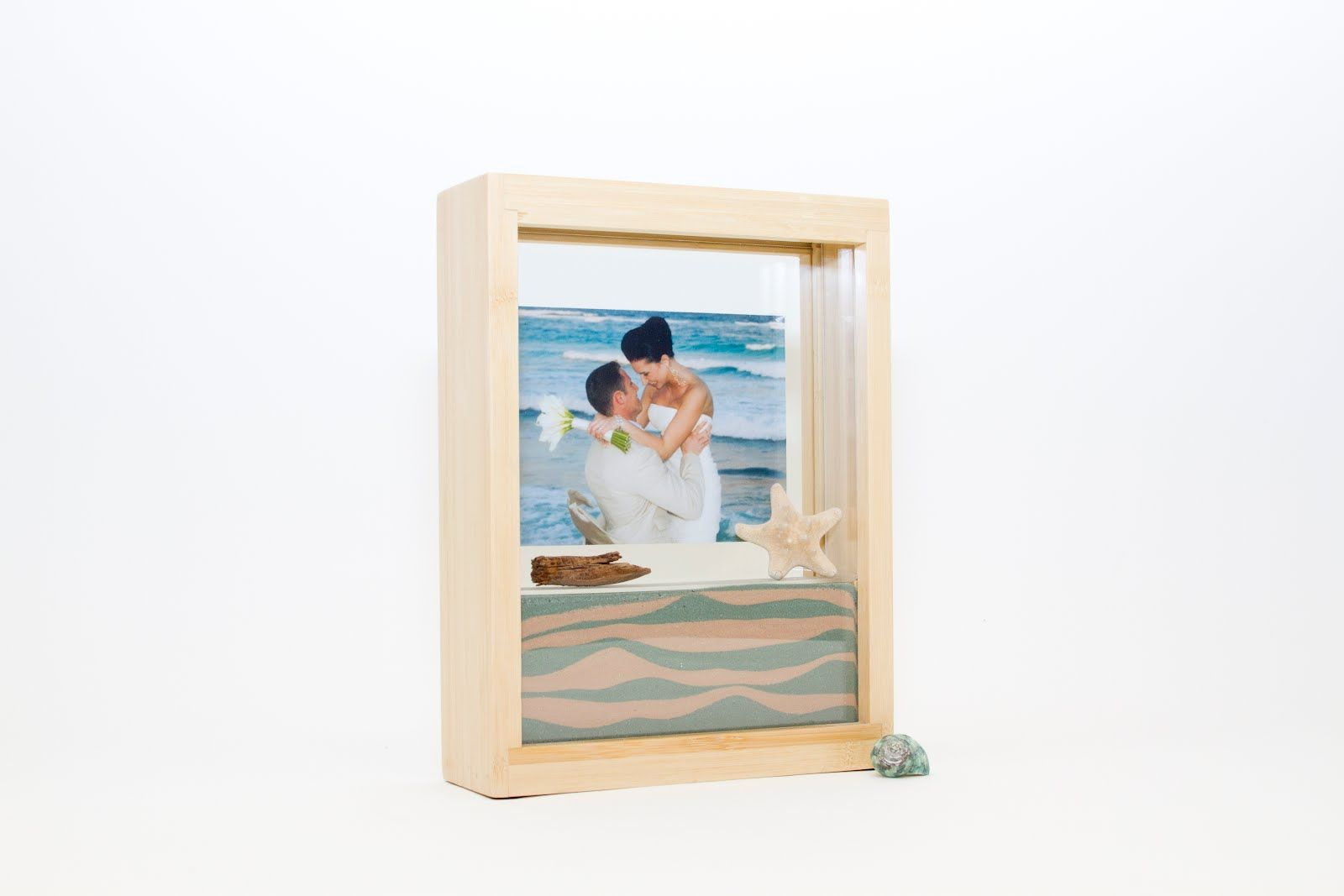 Beach wedding sand ceremony sets  Bamboo Forever Frame perfect for vow renewal vow renewal  Vow