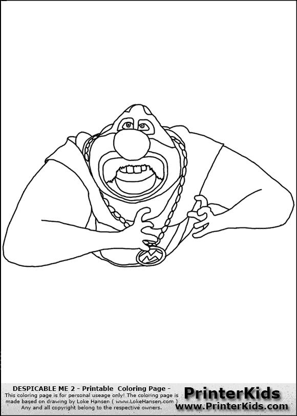 despicable me 2 coloring pages el macho wwwpixsharkcom
