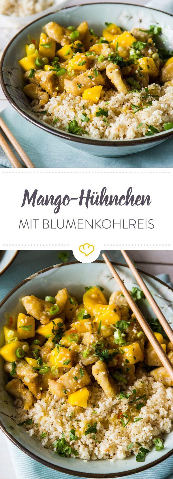 Mango-Hühnchen mit Blumenkohlreis #chickenalfredo