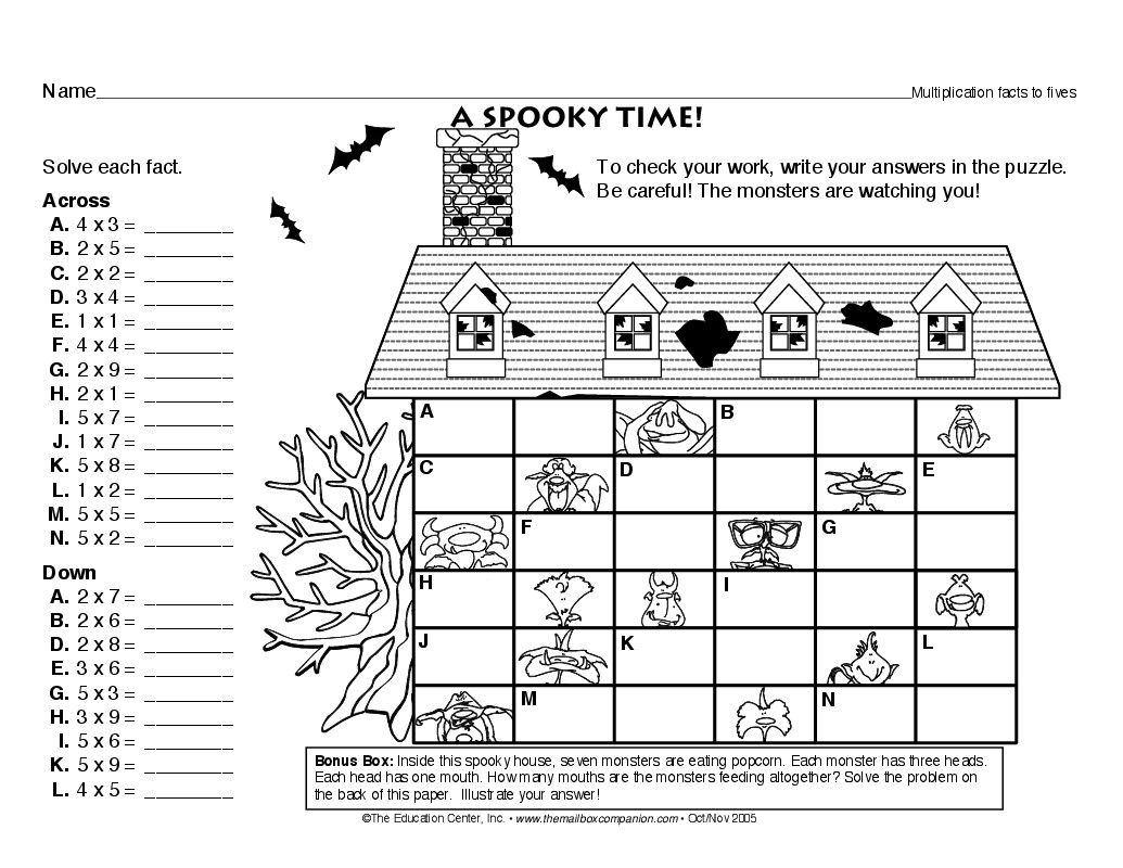 Worksheets The Mailbox Worksheets a spooky time lesson plans the mailbox work stuff pinterest mailbox