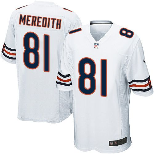 Men's Nike Chicago Bears #81 Cameron Meredith Game White NFL ...