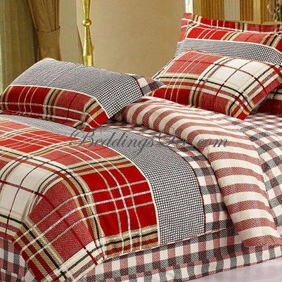 Bedding Red And Grey Plaid