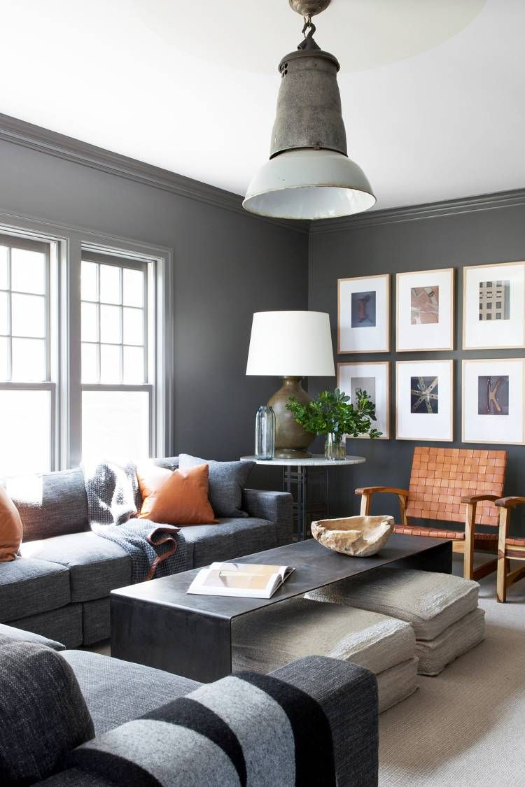 Pin By Giulia Pedroni On Living Masculine Living Rooms Living Room Grey Living Room Designs Manly living room colors