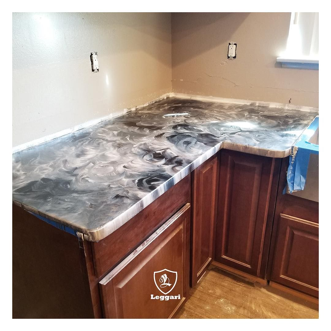 Image May Contain Indoor Kitchen Counter Kitchen Epoxy